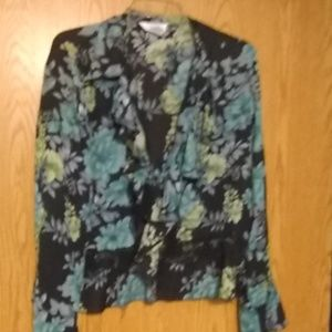 Blouse muti color flowered